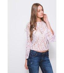 blusa de encaje koaj - rosa