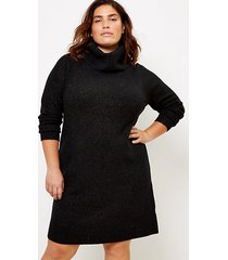 loft loft plus shimmer cowl neck sweater dress