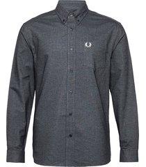 brushed oxford shirt skjorta casual svart fred perry