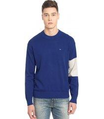 sweater logo gris calvin klein