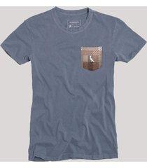 camiseta bolso xadrez quadrilha reserva azul - azul - masculino - dafiti