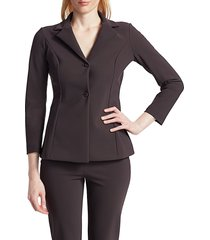 chiara boni la petite robe women's fedora tailored blazer - chocolate - size 6