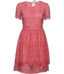 oc peche dress ss kort klänning rosa tommy hilfiger