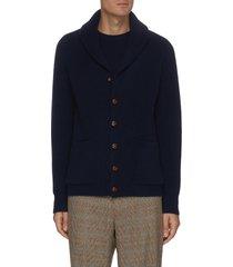 shawl collar rib knit cardigan