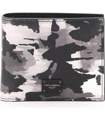 dolce & gabbana camouflage bi-fold wallet
