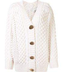 3.1 phillip lim cable-knit buttoned cardigan - white
