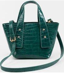 claire croc mini handbag - hunter green