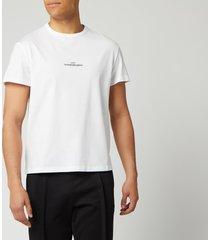 maison margiela men's centre logo t-shirt - white - it 52/xl
