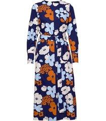 heila kevättalkoot dress jurk knielengte blauw marimekko