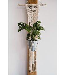 kwiaty makramy model 01 - kwietnik wiszący