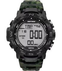 relógio mormaii mo1173c8v verde