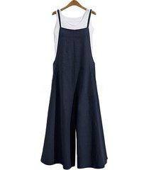 las mujeres europeas y americanas suelto de una sola pieza wide-leg pantalones casual mono