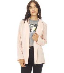 blazer básico mujer palo rosa corona