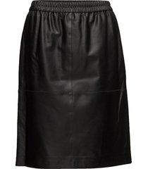 agnes leather skirt knälång kjol svart filippa k