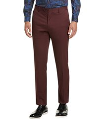 paisley & gray slim fit suit separates dress pants burgundy