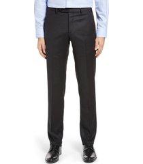 men's zanella parker flannel trousers, size 35 - grey