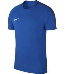 nike dry academy 18 t-shirt royal blue blauw