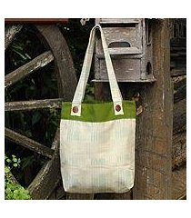 cotton shoulder bag, 'modern organics' (thailand)