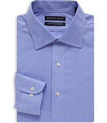 classic-fit checkered dress shirt
