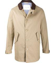 mackintosh bloomsbury button-front coat - neutrals