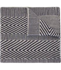 voz chevron knitted scarf - grey