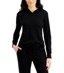 alfani women's thermal loungewear hoodie, created for macy's