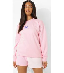 micro vlinder sweater, pink