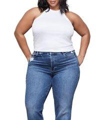 women's good american micro rib tank top