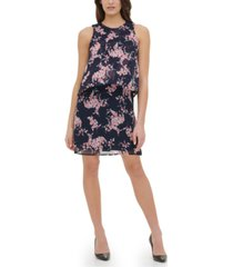 tommy hilfiger crescent floral chiffon dress