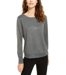 inc plus size heat-seal sweatshirt, created for macy's