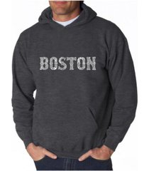 la pop art men's word art hooded sweatshirt - boston neighborhoods