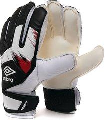 guantes blancos-negros-rojos umbro goalkeeper gloves