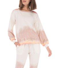 women's bobeau emmanuel french terry pullover