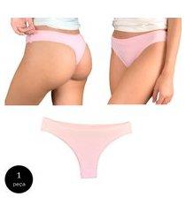 calcinha fio dental try basics algodão cotton básica lisa moda lingerie rosa
