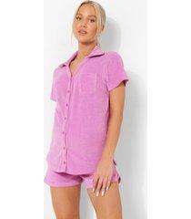 zwangerschap badstoffen blouse, lilac