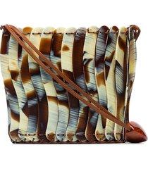 ulla johnson yadira mini resin bucket bag - brown