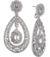 marchesa crystal filigree chandelier earrings