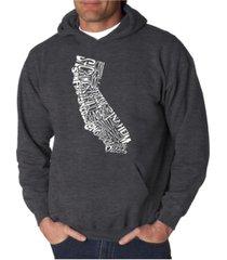 la pop art men's word art hooded sweatshirt - california state