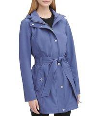 dkny women's soft shell coat - indigo - size s