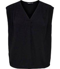 blus onlroberta s/s v-neck top