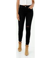 jean para mujer topmark, jeans push up plano cintura con pretina