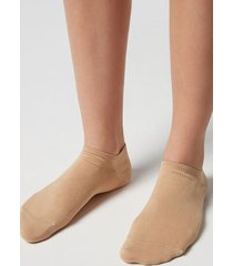 calzedonia unisex cotton no-show socks man nude size 34-36