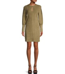 walter baker women's rixa corduroy sheath dress - olive - size xs