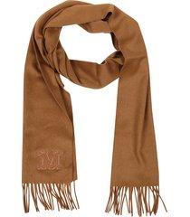 max mara brown cashmere scarf