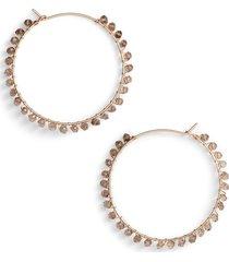 women's nashelle gem cascade hoop earrings