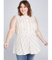 lane bryant women's shimmer stripe peplum tunic 28 sparkle stripe