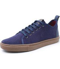 sapatenis sandalo levit azul - azul marinho - masculino - dafiti