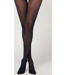 calzedonia 30 denier totally invisible tights woman blue size 1/2