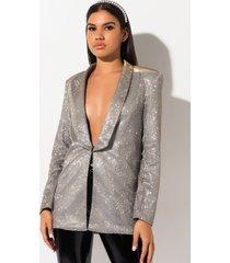 akira we free metallic blazer jacket
