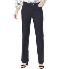 petite women's nydj linen trousers, size 2p - black